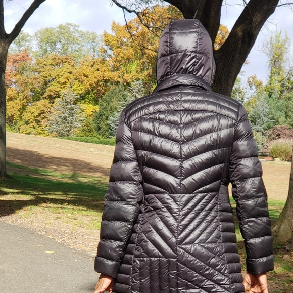 84d1ca79431ab Bernardo Plus Size Hooded Packable Puffer Coat